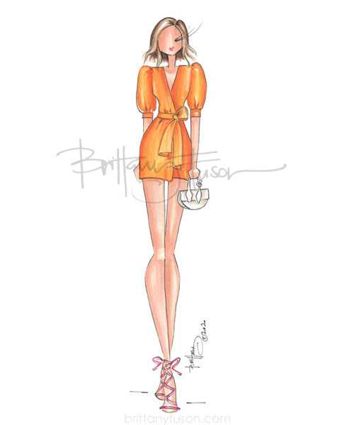 Brittany Fuson, fashion illustration, summer, party dress