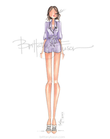 Brittany Fuson, fashion illustration, pajama dressing