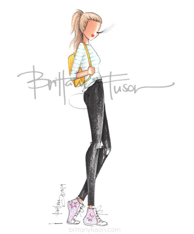Brittany Fuson, fashion illustration, back to school
