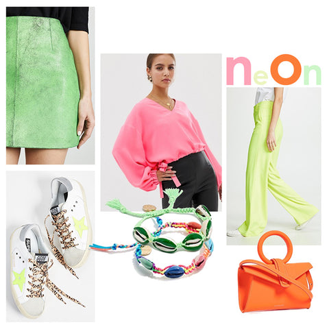 Brittany Fuson, fashion illustration, spring trends neon