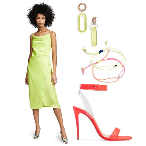 Brittany Fuson, fashion illustration, spring trends, neon