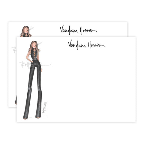 Brittany Fuson, fashion illustration, custom notecards