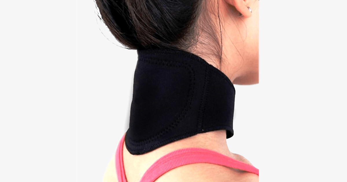 Magnetic Tourmaline Thermal Self-Heating Neck Pad (2 Pack)