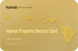 Hawaii Property Owners Card