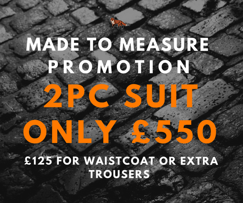 made to measure suit promotion dapper fox