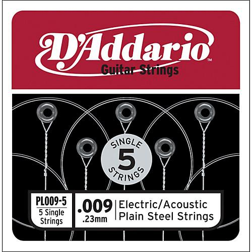 D'Addario Plain Steel Strings (Pack of 5) - Leigh Music Co