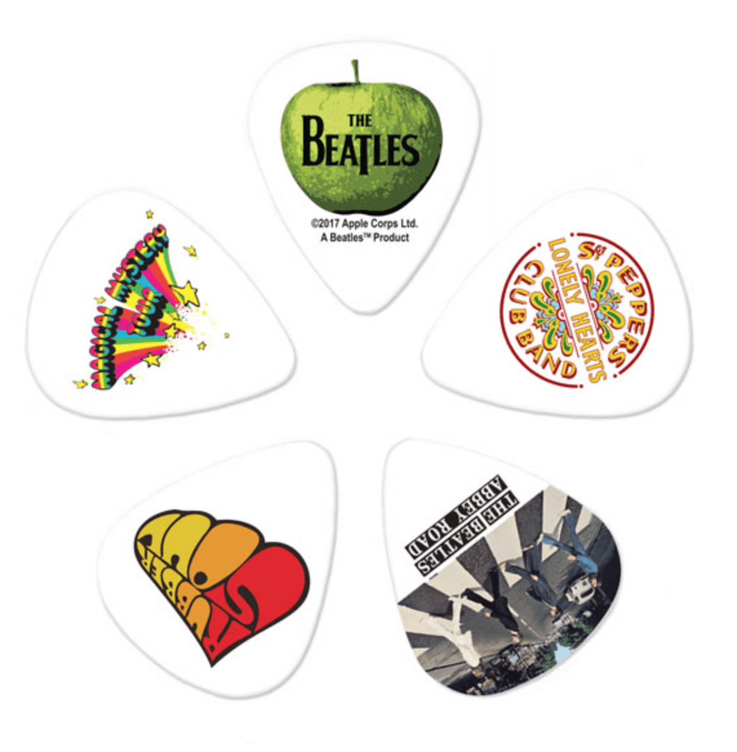 The Beatles Album Plectrums Pack of 10 - Leigh Music Co