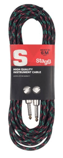 Stagg SGC6VT BK Black Tweed Instrument Cable - Leigh Music Co