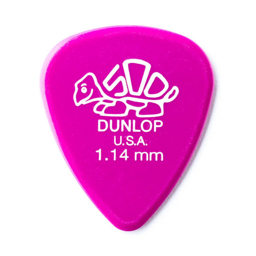 Dunlop Delrin 500 Guitar Plectrum 1.14mm (Pack of 12) - Leigh Music Co
