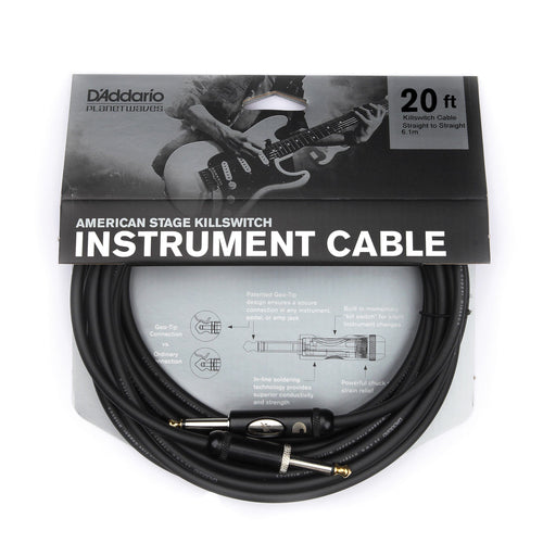 Planet Waves American Stage Kill Switch Instrument Cable 20ft - Leigh Music Co
