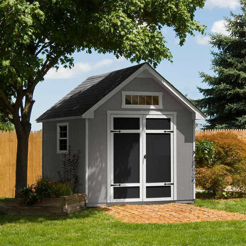 Handy home products majestic 8 ft. X 12 ft. Wood storage shed.