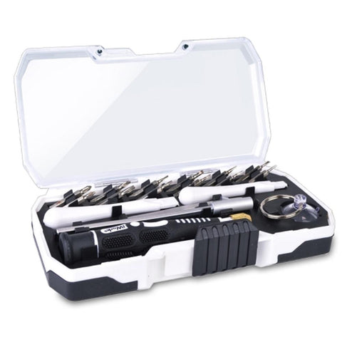 iWork 18-Piece Digital Mobile Device Repair Tool Kit w-Screwdriver Bits Tweezers Suction Cup Case & More!