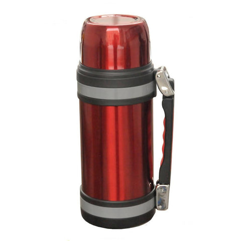 Brentwood 1.2L Vacuum S-S Bottle With Handle Red