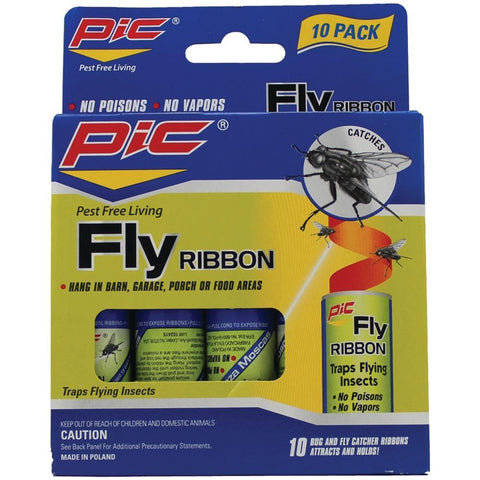 PIC FR10B Fly Ribbon Bug & Insect Catcher, 10 pk