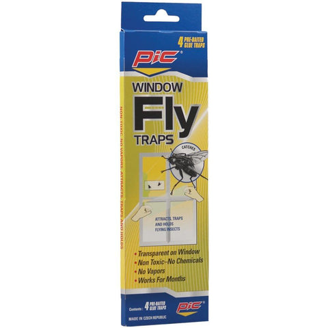 PIC FTRP Window Fly Traps, 4 pk