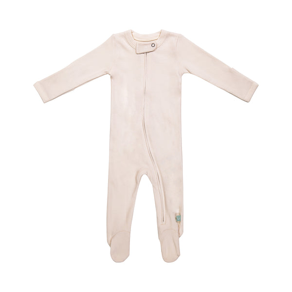 Organic Footed Zip Up One-Piece
