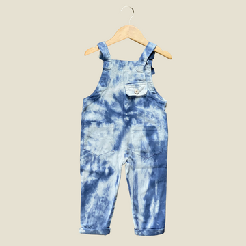 Hand Tie-Dyed Soft Denim Overalls