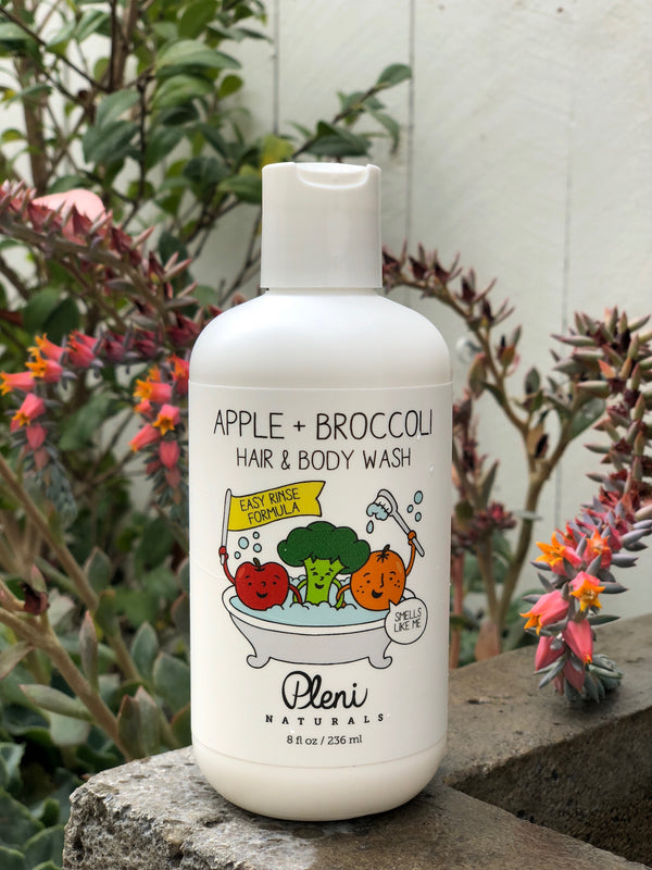 Pleni Naturals Apple + Broccoli Hair & Body Wash 8 oz.