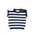 Sweater Knit Navy Stripe Tee