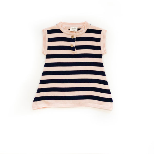 Organic Striped Knit Dress
