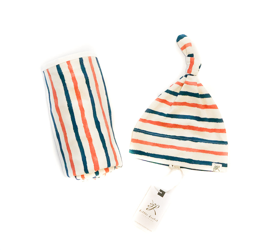 Organic Blanket and Hat Gift Set