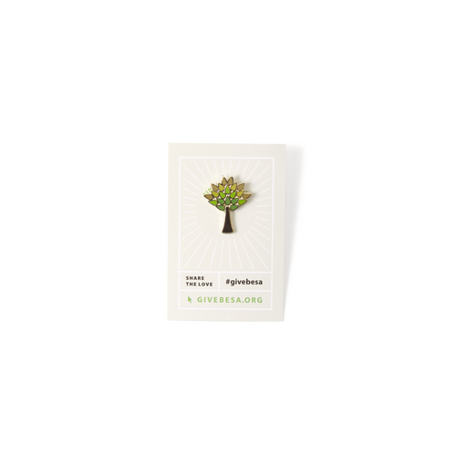 Enamel Tree Pin