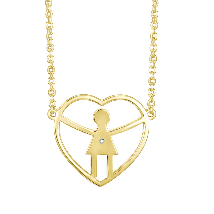 One girl heart necklace