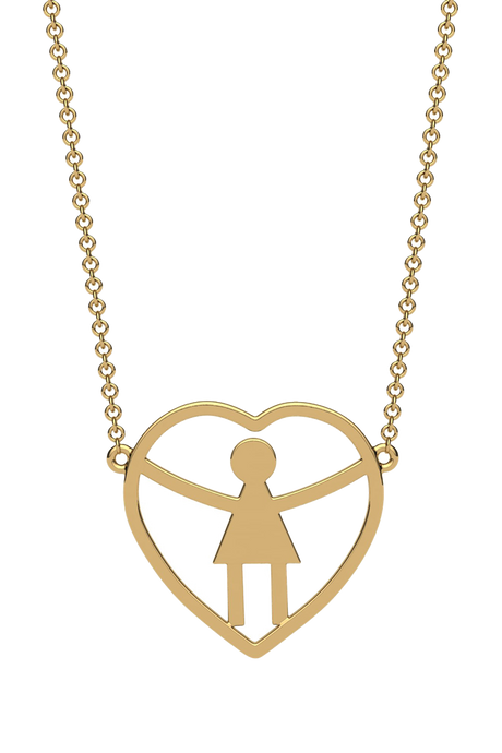 For a mom of one daughter. In 14k Gold.