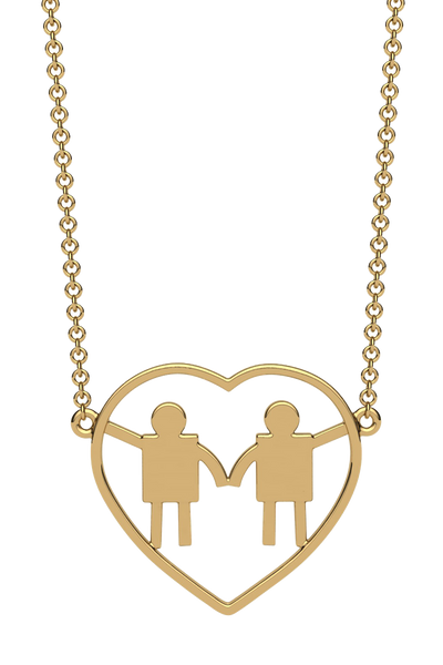For a mom with two boys. In 14k gold.