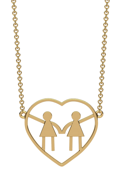 For a mom of two girls. In 14k gold.