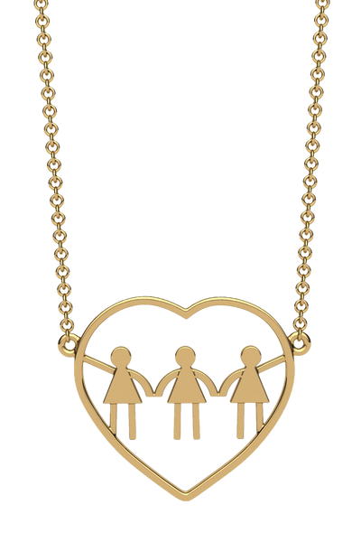 For a mom of three girls. In 14k gold.