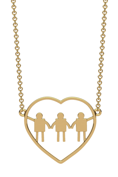 For a mom of three boys. In 14k Gold.