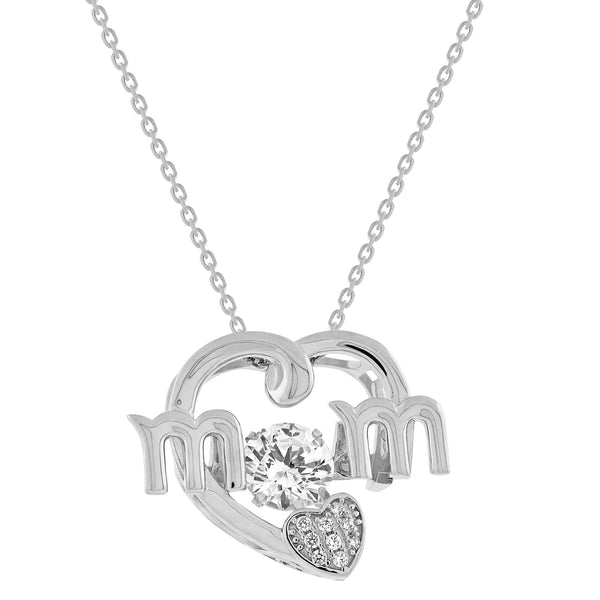 Mom heart necklace