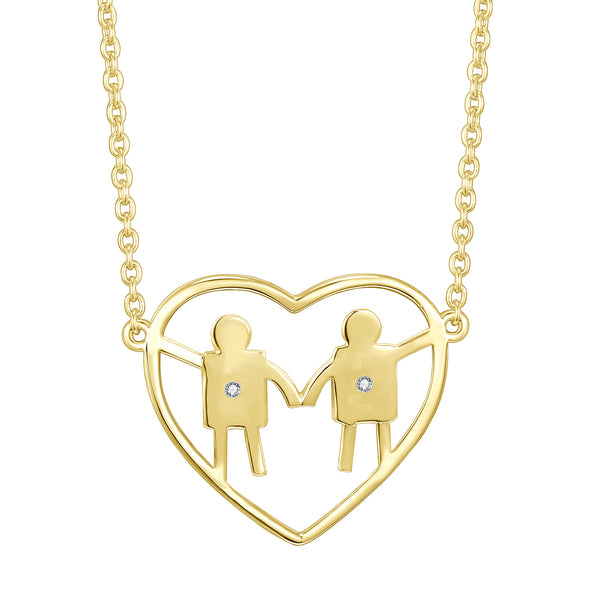 heart-necklace-celebrate-family-2-children-mom-mothers-day-gift