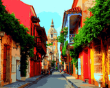 Amazing Places (106) - Cartagena, Columbia - Van-Go Paint-By-Number Kit