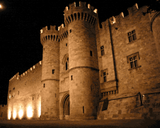 European Castles (111) - Palace of the Grand Master of the Knights of Rhodes, Greece - Van-Go Paint-By-Number Kit