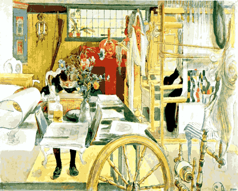 The Workroom by Carl Larsson (111) - Van-Go Paint-By-Number Kit