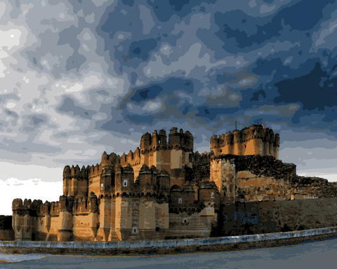 European Castles (119) - Castillo de Coca, Spain - Van-Go Paint-By-Number Kit