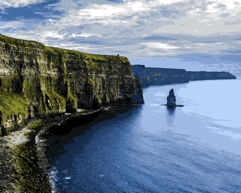 Amazing Places (121) - Cliffs of Moher, Ireland - Van-Go Paint-By-Number Kit