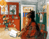 Woman Reading by Carl Larsson (123) - Van-Go Paint-By-Number Kit