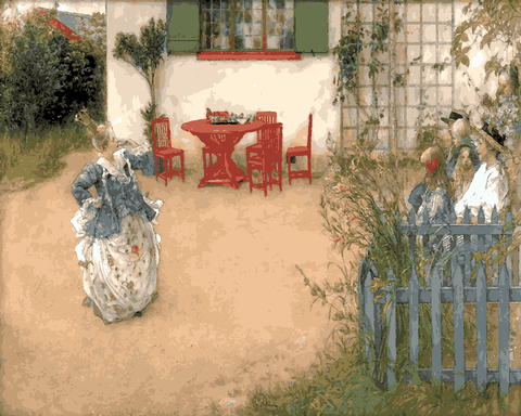 Play in the yard by Carl Larsson (133) - Van-Go Paint-By-Number Kit