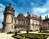 European Castles (140) - Château de Chantilly, France - Van-Go Paint-By-Number Kit