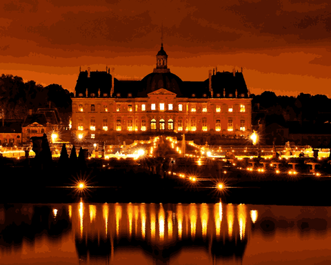 European Castles (151) - Château de Vaux le Vicomte, France - Van-Go Paint-By-Number Kit