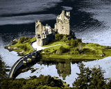 European Castles (166) - Eilean Donan Castle, Scotland - Van-Go Paint-By-Number Kit