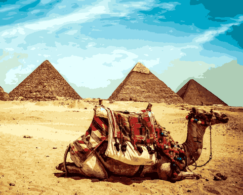 Amazing Places (180) - Giza Pyramids, Egypt - Van-Go Paint-By-Number Kit