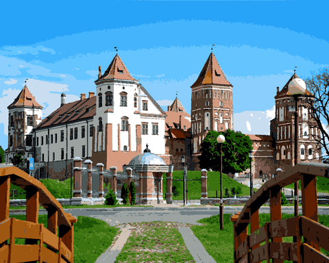 European Castles (186) - Mir Castle Complex, Belarus - Van-Go Paint-By-Number Kit