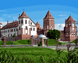 European Castles (188) - Mir Castle Complex, Belarus - Van-Go Paint-By-Number Kit