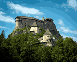European Castles (205) - Orava Castle, Slovakia - Van-Go Paint-By-Number Kit