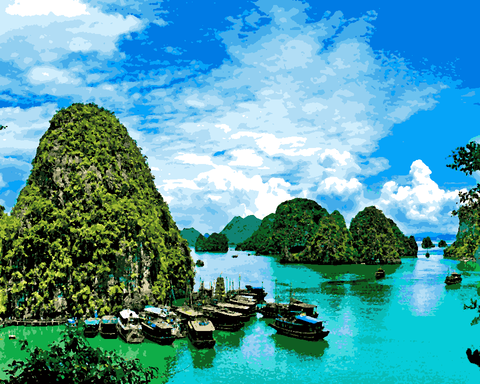 Amazing Places (206) - Halong Bay, Vietnam - Van-Go Paint-By-Number Kit