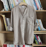 Women Loose Linen Shirt